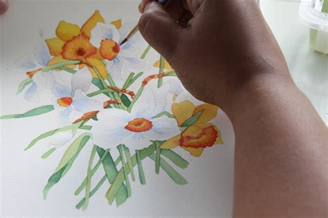 watercolor daffodil tutorial watercolor daffodils afternoon artist