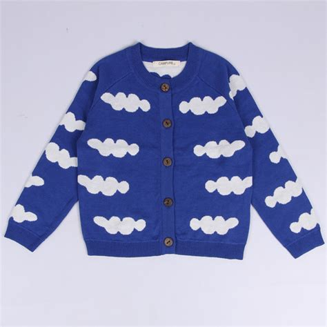 triangle pattern jumper 1 5y baby costume bobo choses knitted sweaters cloud horse