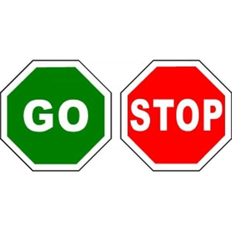 Go Go Go Stop stop go flag sign road works sign