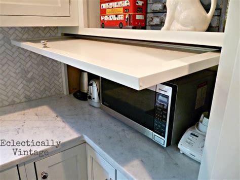 hometalk a great idea for appliance garage