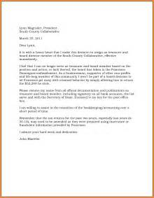letter of resignation from board 5 effective immediately resignation letter exles