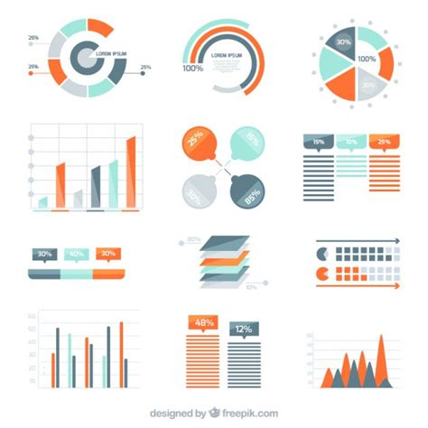 diagram infographic variety of infographic diagrams vector free
