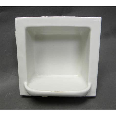 Antique Porcelain Subway Tile Recessed Soap Dish