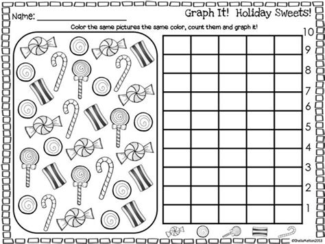 printable picture graphs kindergarten graph it holiday sweets freebie kids love doing these