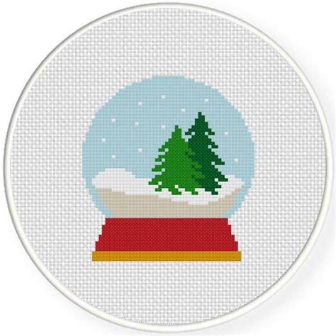pattern simple glob charts club members only snow globe cross stitch pattern
