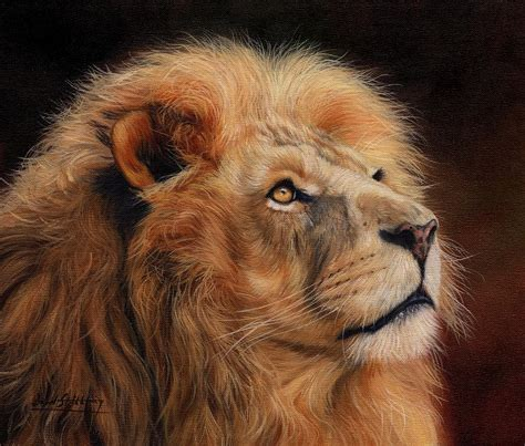 Best Home Decor Blogs Uk Majestic Lion Painting By David Stribbling