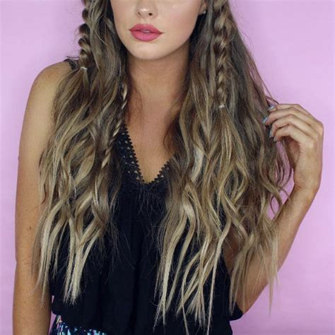 courtney kerrs waves with braids how to 40 beautiful beachy wave hairstyles we love style skinner