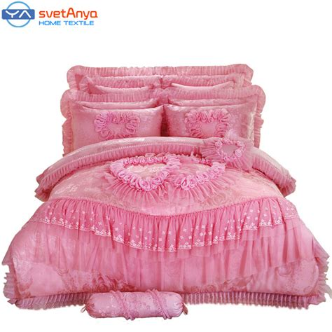 red queen size comforter aliexpress com buy 10pc 6pc lace heart princess wedding