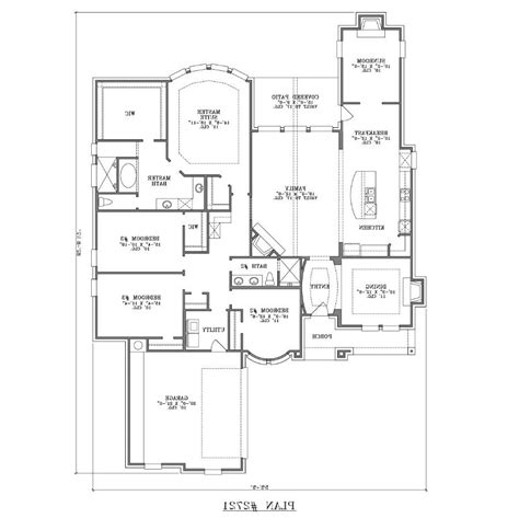 crandall cliff one story home plan 013d 0130 house plans one story house plans with photos