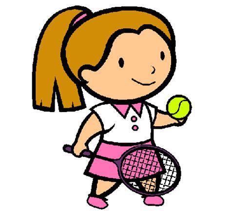 dibujos niños jugando tenis dibujo de chica tenista pintado por weri en dibujos net el