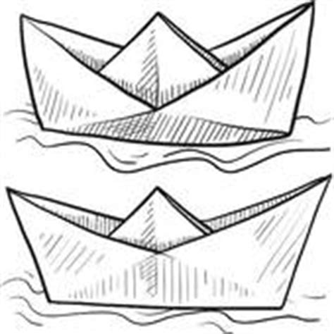 paper folded boat clipart and stock illustrations 63 - Paper Boat Clipart Black And White