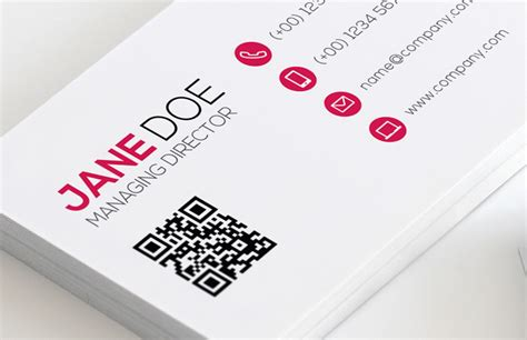 business card with qr code template qr code business card template vol 2 medialoot
