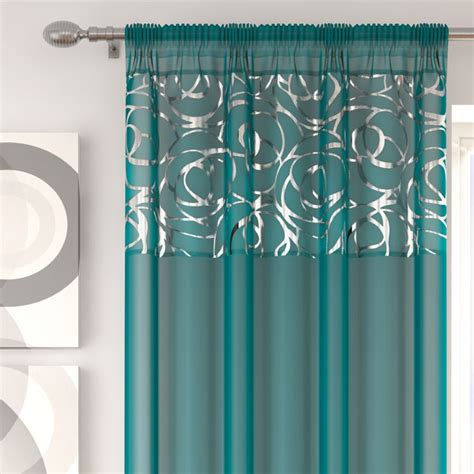 skye curtains skye teal voile curtain panel tony s textiles