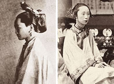history of hair china manchu women s clothing and hair