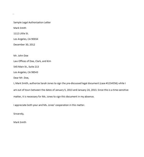 Authorization Letter For Car 46 Free Authorization Letter Sles Templates Free Template Downloads