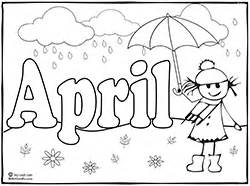 april coloring pages theme activities for teaching children sing