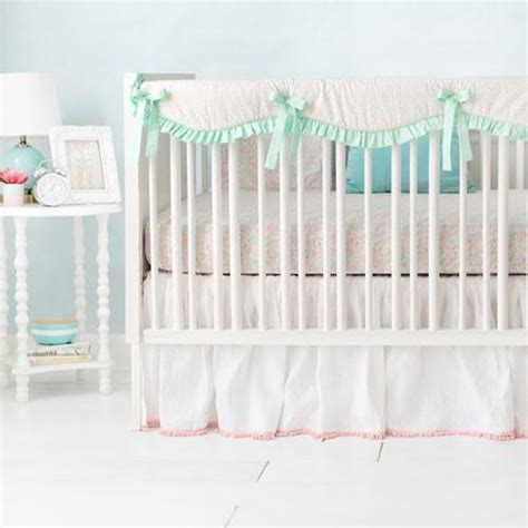 Unicorn Crib Bedding Crib Skirt Unicorn Magic Folk In Aqua And Boutique