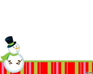 Snowman Powerpoint Template by Snowman Powerpoint