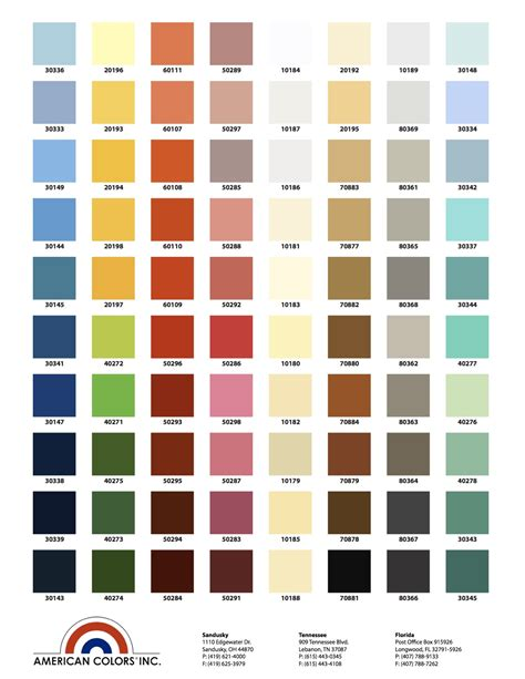 colors of color chart