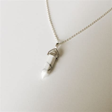 white marble necklace on storenvy