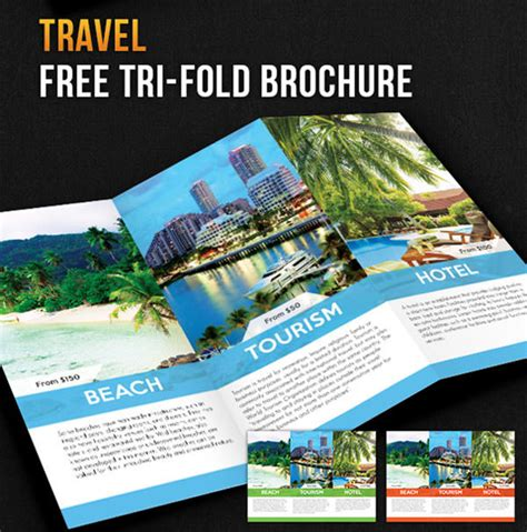 tri fold travel brochure template free free psd travel brochure design templates freecreatives