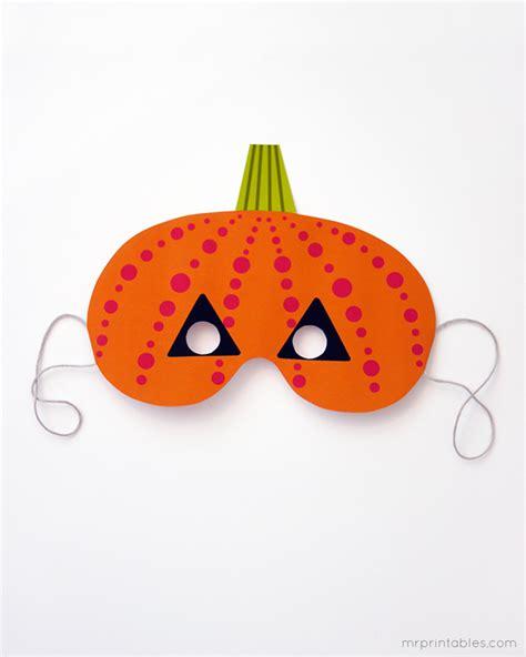 printable pumpkin mask printable halloween masks