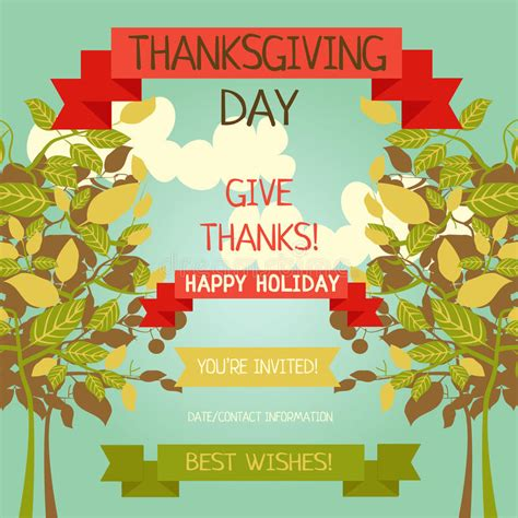 Thanksgiving Card Template Free Illustrator by Thanksgiving Card Template Stock Vector Image 76237272