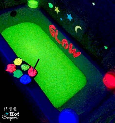bathtub fun for toddlers homemade glow in the dark bath paint