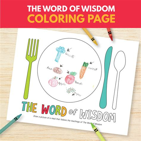 lds coloring pages word of wisdom the word of wisdom primary 3 lesson 14 printable