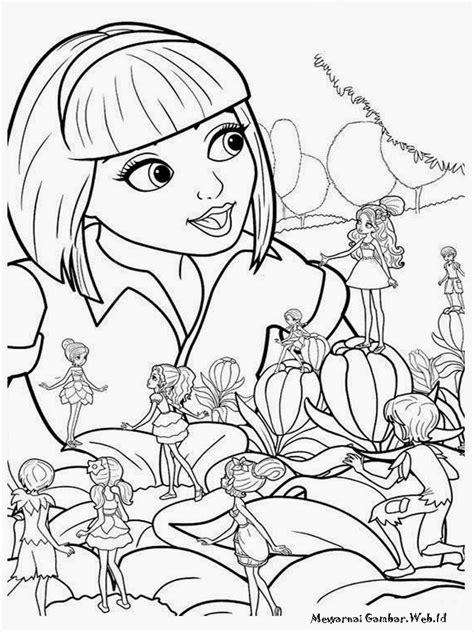 Mewarnai Gambar Barbie Thumbelina | Mewarnai Gambar
