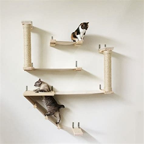 Handcrafted Wall - the cat fort cat hammock climbing activity