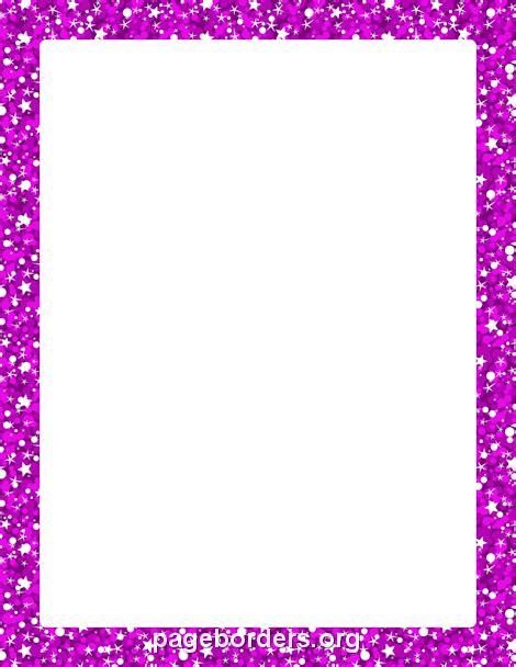Bordir Purple printable purple glitter border use the border in microsoft word or other programs for creating
