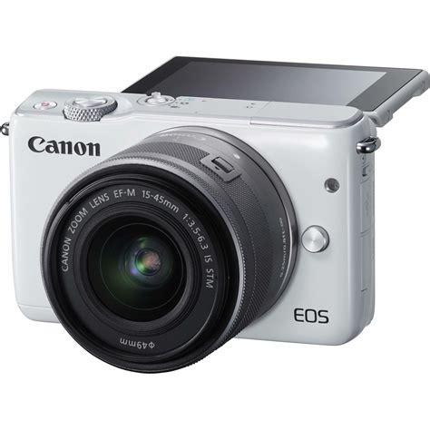 Canon Eos M10 Mirrorless Digital With 15 45 Mm Lens Black canon eos m10 15 45 kit white bijeli wifi mirrorless digital digitalni fotoaparat 15