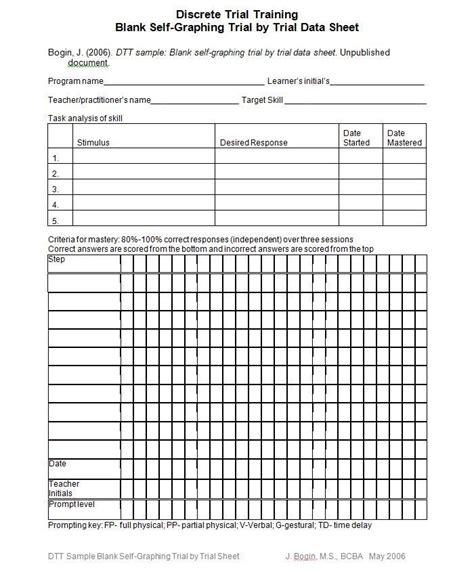 aba program template discrete trial data sheet template search aba