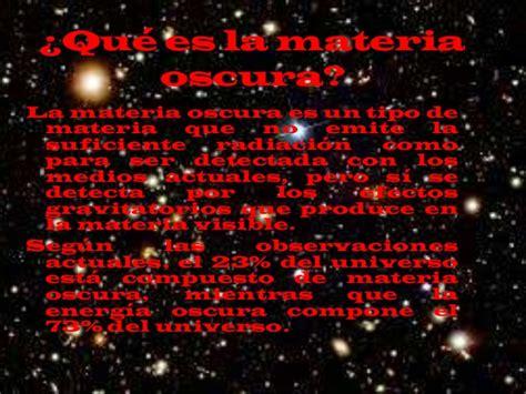 materiale oscura la materia oscura