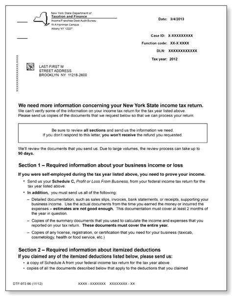 self certification notification letter ny new york dtf 973 letter sle 1