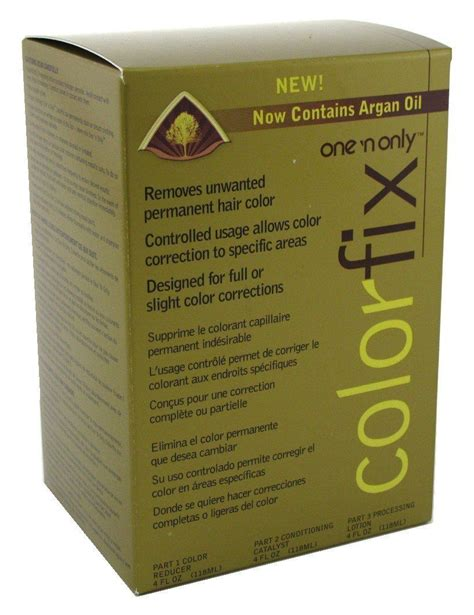 one n only color fix one n only colorfix kit permanent hair color remover 2