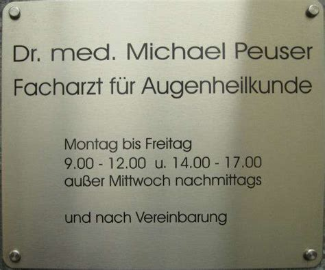 Bilder Und Fotos Zu Peuser Michael Dr Med Augenarzt In