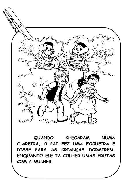 História infantil João e Maria com imagens para imprimir