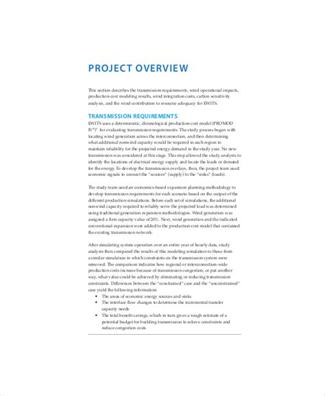 8 Project Overview Templates Free Sle Exle Format Free Premium Templates Project Overview Template