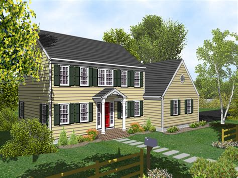 2 Story House Plans With Porches by 2 Story Colonial House Plans Two Story Colonial House With