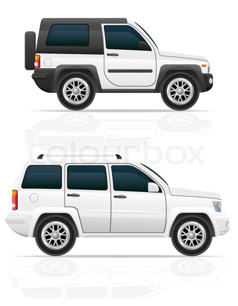 jeep illustration car jeep road suv illustration isolated on white