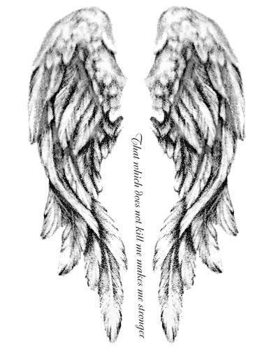 black and white angel wings tattoo designs wings design ideas family tattoos