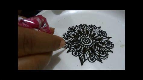 henna design tutorial for beginners how to make henna mehendi flower design tutorial step by