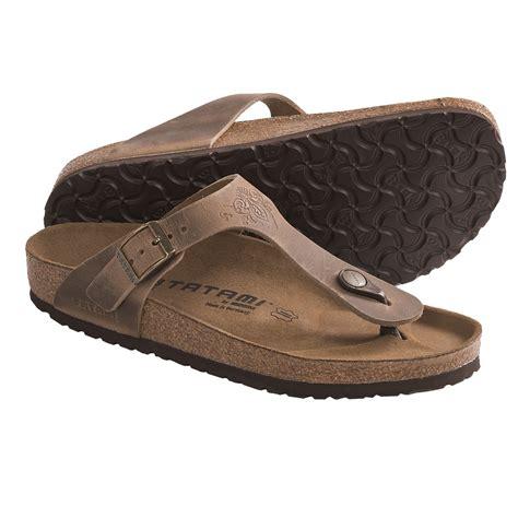 tatami sandals tatami by birkenstock gizeh impression sandals leather
