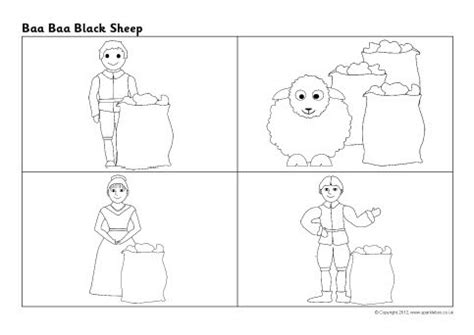 coloring page baa baa black sheep baa baa black sheep sequencing sheet sb8815 sparklebox