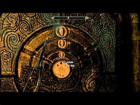 pattern to unlock door in skyrim csb how to golden claw door unlock skyrim youtube
