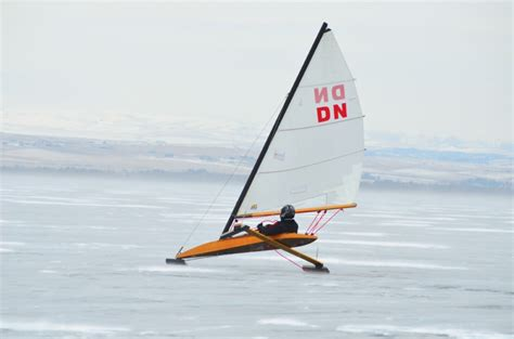 ice boat fear and ice boating on canyon ferry outside bozeman