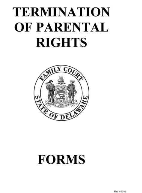 free form 112 petition for termination of parental rights