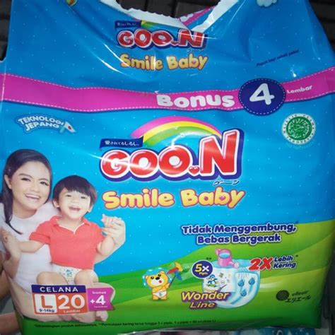 goon smile baby l20 4 l20 wonderline renceng shopee